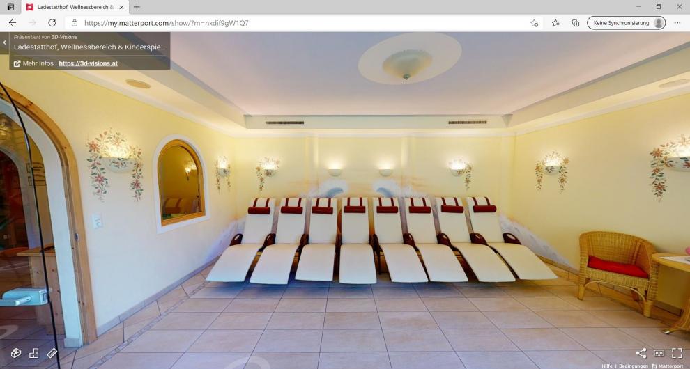 Virtueller 360° Rundgang Wellnessoase und Kinderspielzimmer