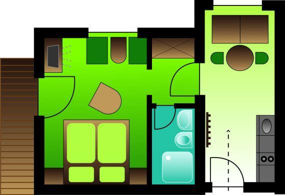 Zimmerplan Appartement Almrose