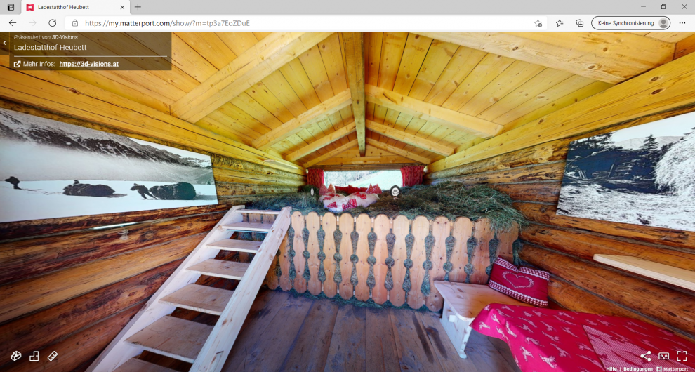 360° virtual tour of Ladestatthof hay bed