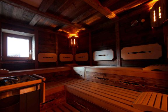 Sauna finlandese alla tirolese
